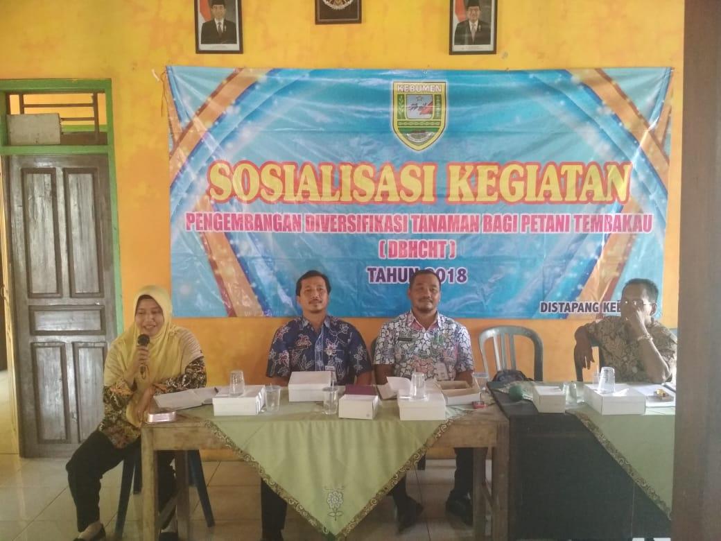 Sosialisasi Kegiatan Pengembangan Diversifikasi Tanaman Bagi Petani Tembakau. ( Bantuan Bibit Lada ) Desa Sendangdalem Padureso.