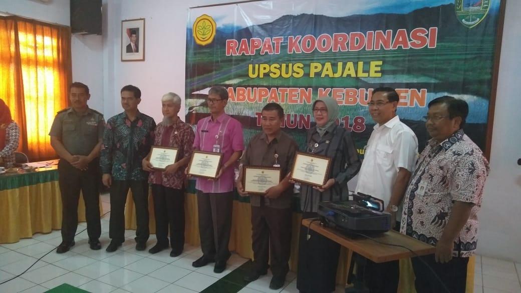 Kabupaten Kebumen Meraih Penghargaan dari Kementan dalam Program Upsus Pajale